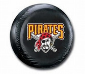 Pittsburgh Pirates Black Tire Cover