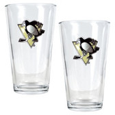 Pittsburgh Penguins 2pc Pint Ale Glass Set
