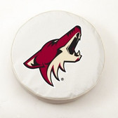Phoenix Coyotes White Tire Cover, Large