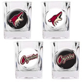 Phoenix Coyotes 4pc Square Shot Glass Set