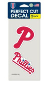 Philadelphia Phillies Set of 2 Die Cut Decals