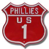 Philadelphia Phillies Route 1 Sign