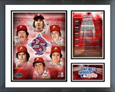 Philadelphia Phillies 25th Anniversary Phillies World Series Champion  Milestones & Memories Framed Photo