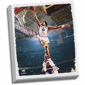 Philadelphia 76ers Julius Erving Dr J Dunk Stretched 32X40 Canvas