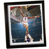 Philadelphia 76ers Julius Erving Dr J Dunk Framed Stretched 32X40 Canvas