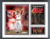 Pete Rose Cincinnati Reds 4192nd Hit Milestones & Memories Framed Photo