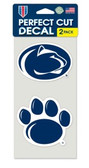 Penn State Nittany Lions Set of 2 Die Cut Decals