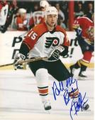 Pat Falloon Philadelphia Flyers Signed 8x10 Photo
