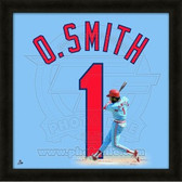Ozzie Smith St. Louis Cardinals 20x20 Framed Uniframe Jersey Photo