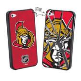 Ottawa Senators iPhone 4/4S NHL  Broken Glass Lenticular Case