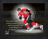 Ottawa Senators Erik Karlsson 11x14 Framed Pro Quote Photo