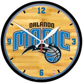 Orlando Magic Round Chrome Wall Clock