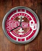 Oklahoma Sooners Chrome Clock