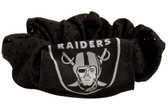 Oakland Raiders Hair Twist Ponytail Holder
