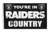 Oakland Raiders 3'x5' Country Design Flag