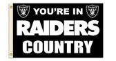 Oakland Raiders 3 Ft. X 5 Ft. Flag w/Grommets 94104B