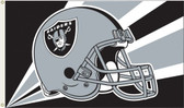 Oakland Raiders 3 Ft. x 5 Ft. Flag w/Grommets