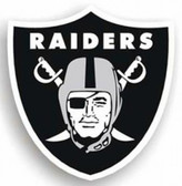 "Oakland Raiders 12"" Logo Car Magnet"