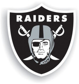 "Oakland Raiders 12"" Vinyl Magnet Set Of 2"
