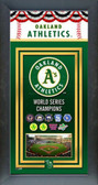 Oakland Athletics Framed Championship Banner
