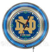 Notre Dame Fighting IrishND Logo Neon Clock
