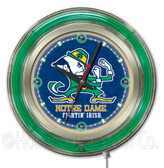 Notre Dame Fighting Irish Leprechaun Neon Clock