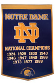 "Notre Dame Fighting Irish 24""x36"" Wool Dynasty Banner (Navy)"