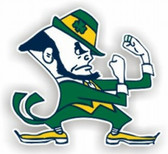 "Notre Dame Fighting Irish 12"" Car Magnet"