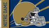 Notre Dame 3 Ft. x 5 Ft. Flag w/Grommets - Helmet Design