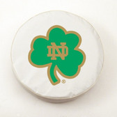 "Notre Dame Fighting Irish ""Shamrock"" White Tire Cover"