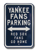 New York Yankees Red Sox Go Home Parking Sign