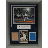 New York Yankees Mariano Rivera Framed Old Stadium Dirt and Wall Panel Unsigned Collage - 14x20 7565