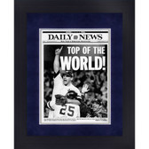 New York Yankees John Wettland Top of the World! 1996 Daily News Cover Framed 16x20 Photo uns