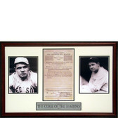 New York Yankees Babe Ruth Framed Contract/Curse Of The Bambino (Framed)