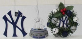 New York Yankees 3 Piece Christmas Ornament Box Set