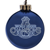 New York Yankees 2009 World Series Champions Laser Etched Ornament