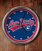 New York Rangers Chrome Clock