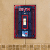 New York Rangers Art Glass Switch Cover