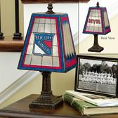 """New York Rangers 14"""" Art Glass Lamp"""