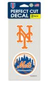 New York Mets Set of 2 Die Cut Decals