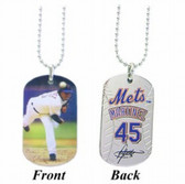 New York Mets Pedro Martinez Sport Dog Tagz Necklace