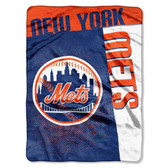 "New York Mets 60""x80"" Royal Plush Raschel Throw Blanket - Strike Design"