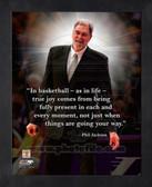 New York Knicks Phil Jackson 8x10 Framed Pro Quote Photo