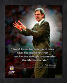 New York Knicks Phil Jackson 8x10 Framed Pro Quote Photo AAPC103-8x10
