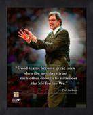 New York Knicks Phil Jackson 11x14 Framed Pro Quote Photo AAPC103-11x14