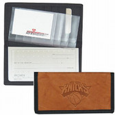 New York Knicks Leather/Nylon Embossed Checkbook Cover