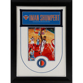 New York Knicks Iman Shumpert Unsigned Framed Collage with Authentic Piece of Knicks Uniform - 14x20 9764