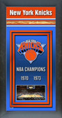 New York Knicks Framed Championship Banner