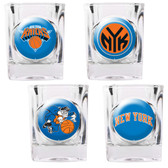 New York Knicks 4pc Square Shot Glass Set