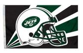 New York Jets 3'x5' Helmet Design Flag
